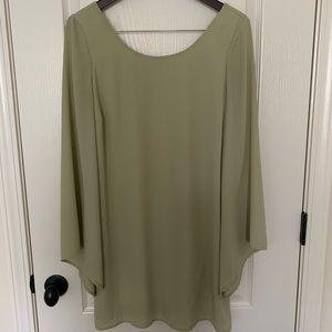 Boutique Olive Green Dress